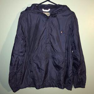 Old Navy Surplus Blue Hooded Windbreaker Jacket MD